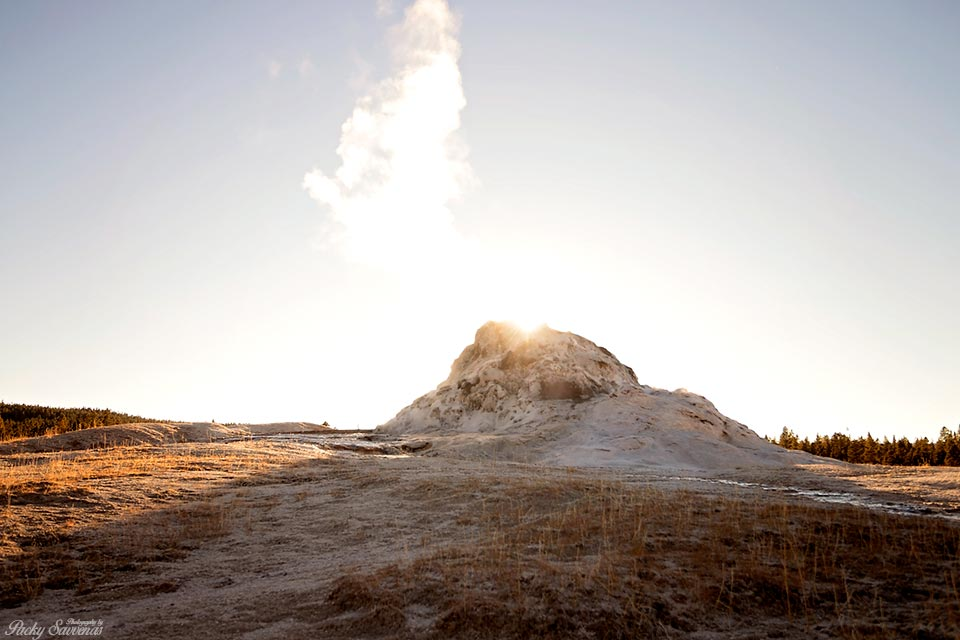 Golden Hour Geyser Volcano